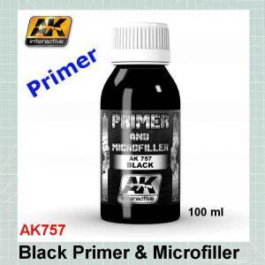Black Primer & Microfiller AK757
