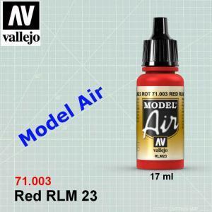 VALLEJO 71003 Red RLM23