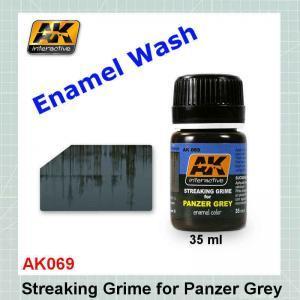 AK069 Streaking Grime for Panzer Grey