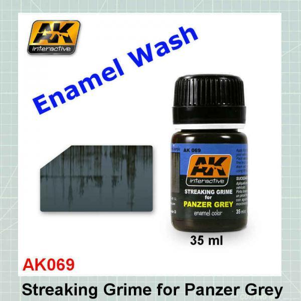 AK069 Streaking Grime for Panzer Grey