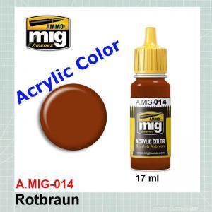 AMMO Mig 0014 RAL8012 Rotbraun