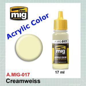 AMMO Mig 0017 RAL9001 Cremweiss