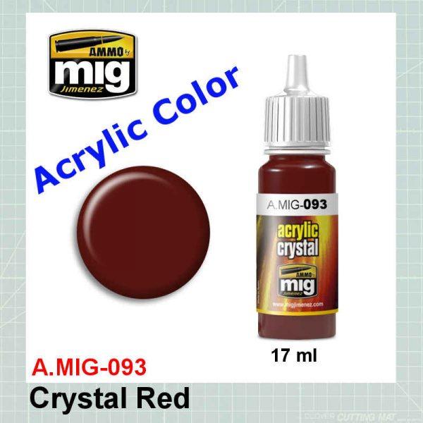 AMMO Mig 0093 Crystal Red
