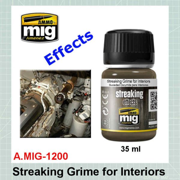 AMMO Mig 1200 Streaking Grime for Interiors