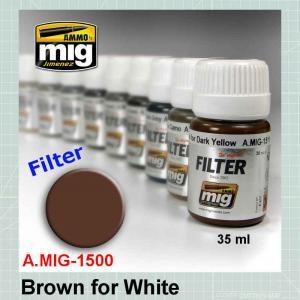 AMMO Mig 1500 Brown for White