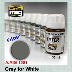 AMMO Mig 1501 Grey for White