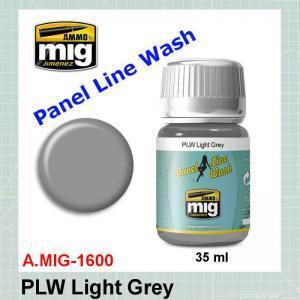 AMMO Mig 1600 Panel Line Wash Light Grey