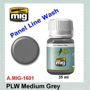 AMMO Mig 1601 Panel Line Wash Medium Grey