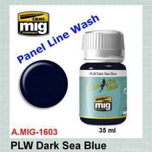 AMMO Mig 1603 Panel Line Wash Dark Sea Blue
