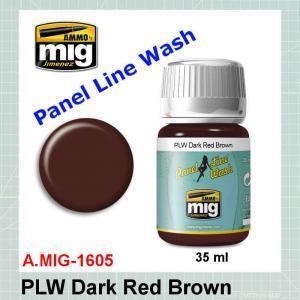 AMMO Mig 1605 Panel Line Wash Dark Red Brown