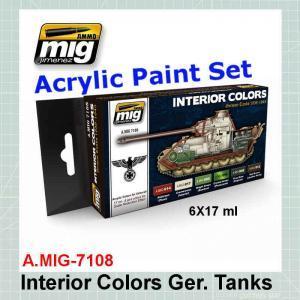 AMMO Mig 7108 Interior Colors: German Tanks