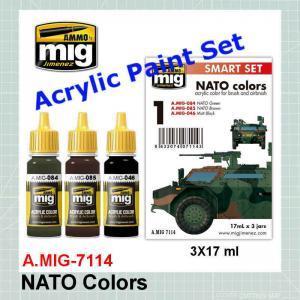 AMMO Mig 7114 NATO Color Set