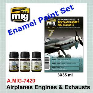 AMMO Mig 7420 Airplanes Engines and Exhausts