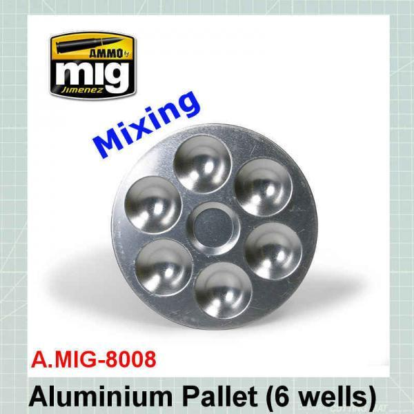 AMMO Mig 8008 Aluminium Pallet 6 Wells