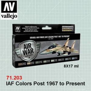 VALLEJO 71203 IAF Colors Post 1967 to Present
