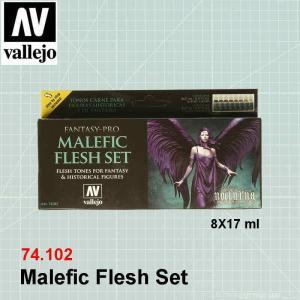VALLEJO 74102 Malefic Flesh Set