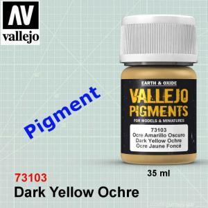 Vallejo 73103 Dark Yellow Ocher Pigment