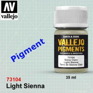 Vallejo 73104 Light Sienna Pigment
