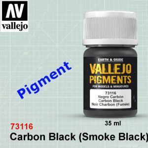 Vallejo 73116 Carbon Black (Smoke Black) Pigment