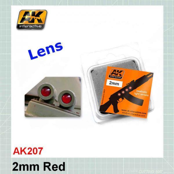 AK207 2mm Red Lenses