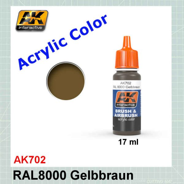 AKI 702 RAL8000 Gelbbraun - Brown Yellow