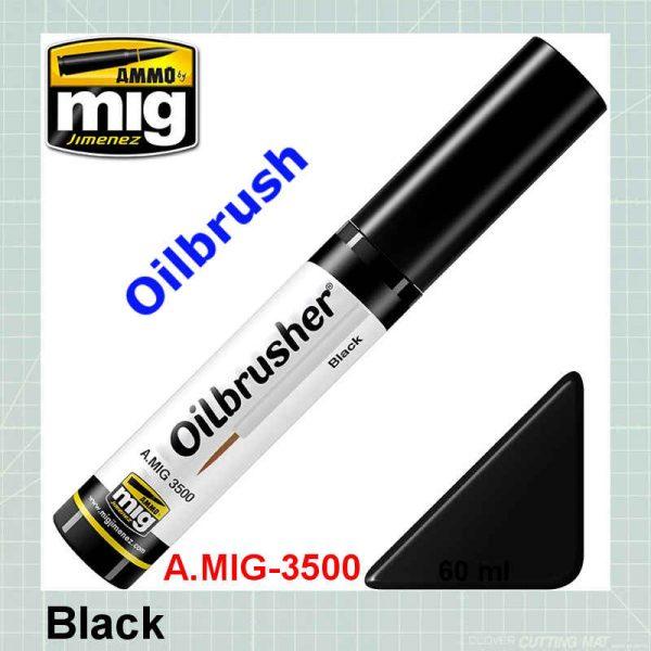 Black Oilbrusher AMMO MIG-3500