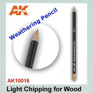 Light Chipping for Wood Weathering Pencil