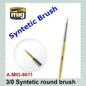 Syntetic round brush #3/0 AMIG-8611