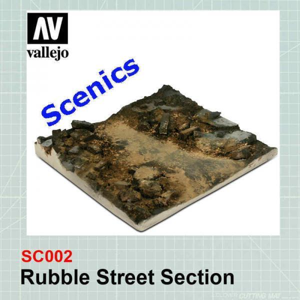 Rubble street section