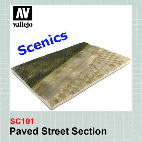 Paved street section