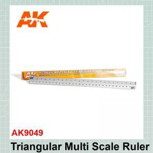 Metallic Multi Scale Triangular Ruler AK9049
