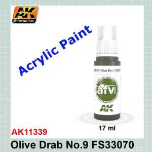 Olive Drab No.9 FS33070 - AFV AK11339
