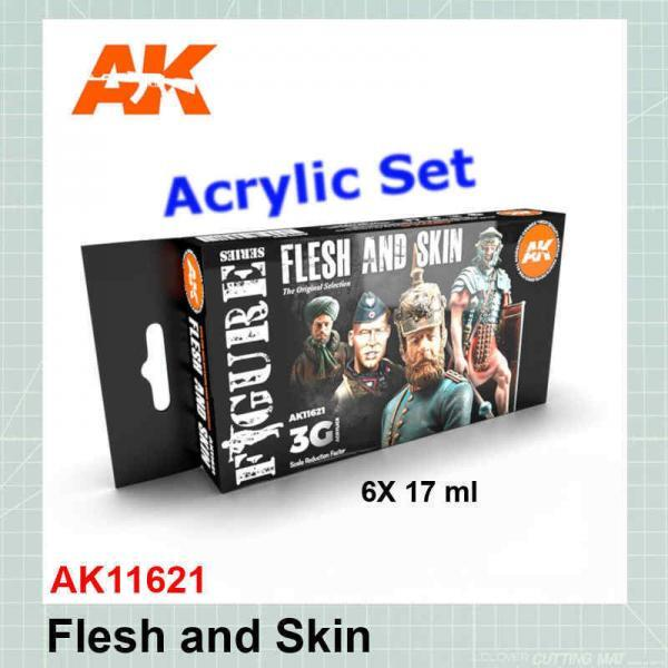 Flesh and Skin Colors Set AK11621