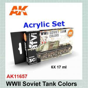WWII Soviet Tanks Colors Set AK11657