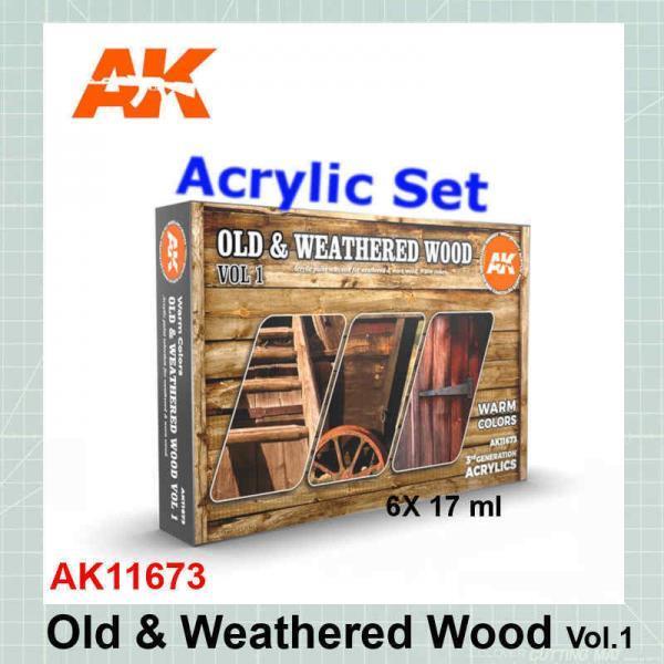 Old & Weathered Wood Vol.1 Set AK11673